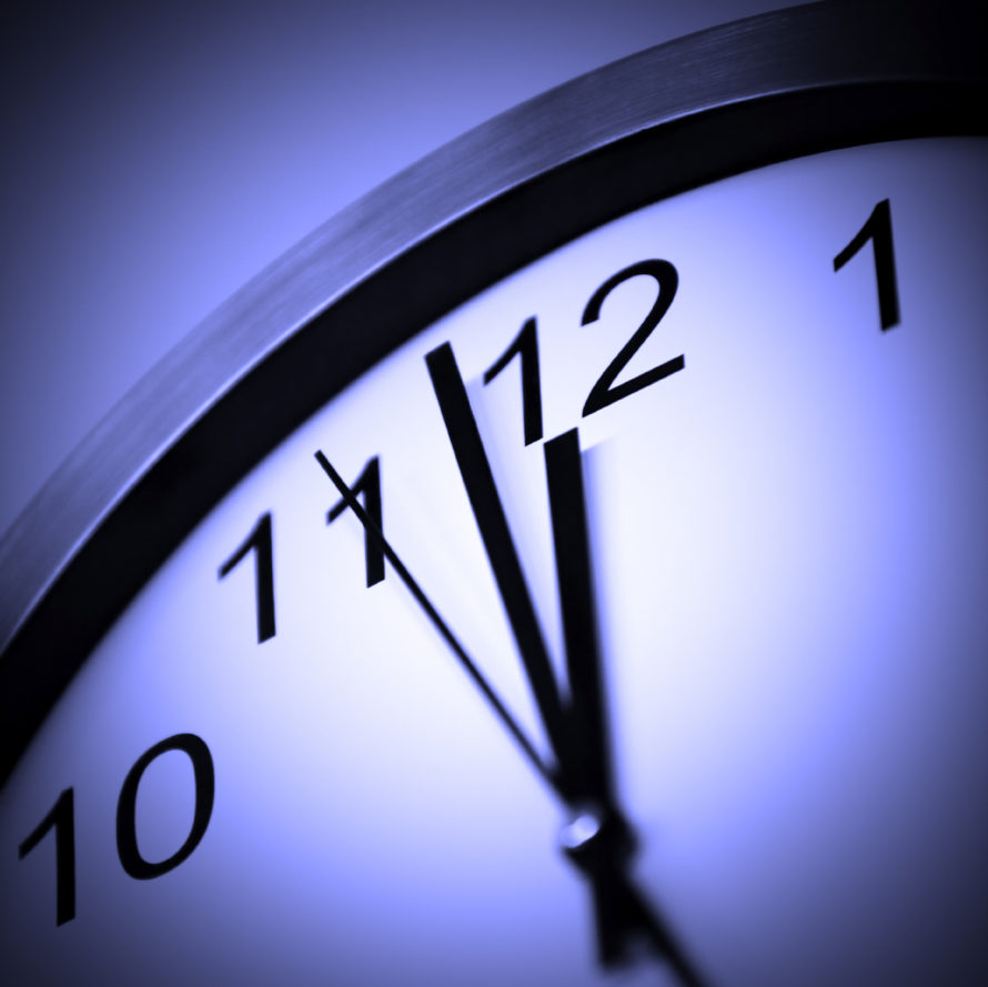 purplish clock