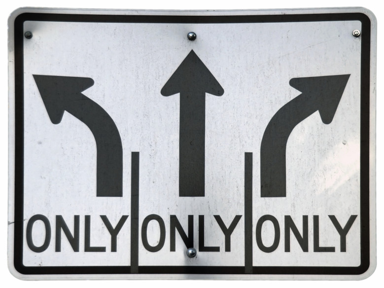 Left/Straight/Right Turn Lanes